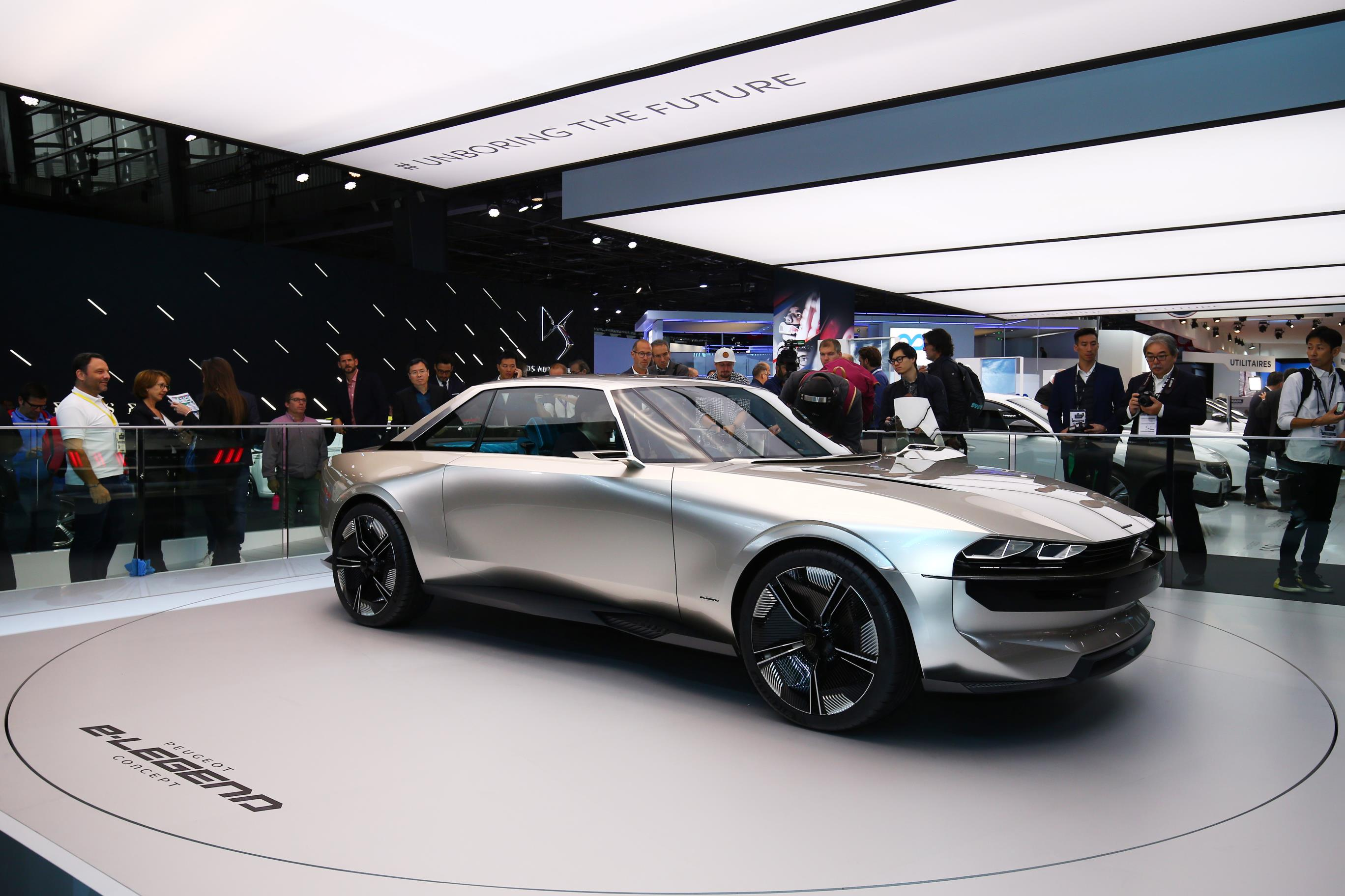 The Peugeot ELEGEND Concept Was A Stand Out Car From This Years - Car show wheel stands