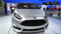 Ford Fiesta rocking a grille like an Aston