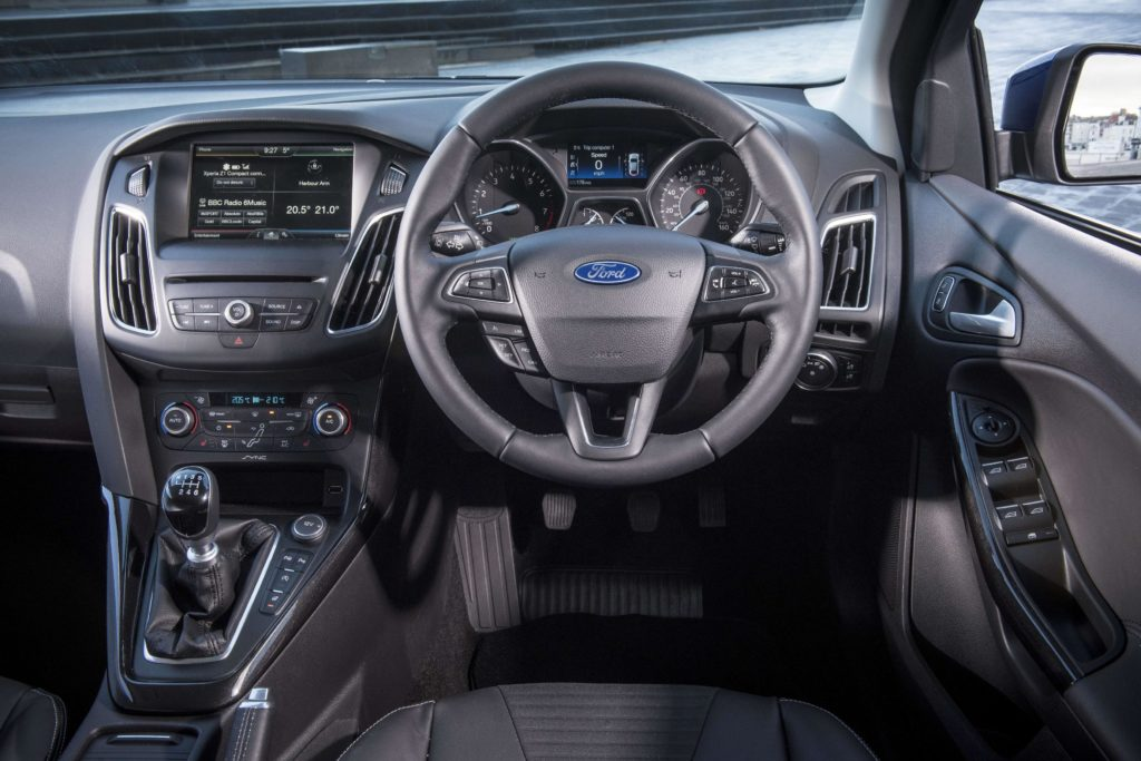 The interior of the 2015 Ford Focus