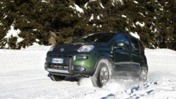 The Fiat Panda 4x4 is a cheap car for snow driving