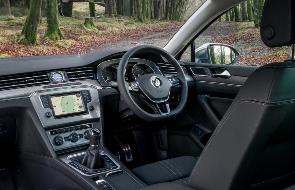 The interior of the Volkswagen Passat Alltrack