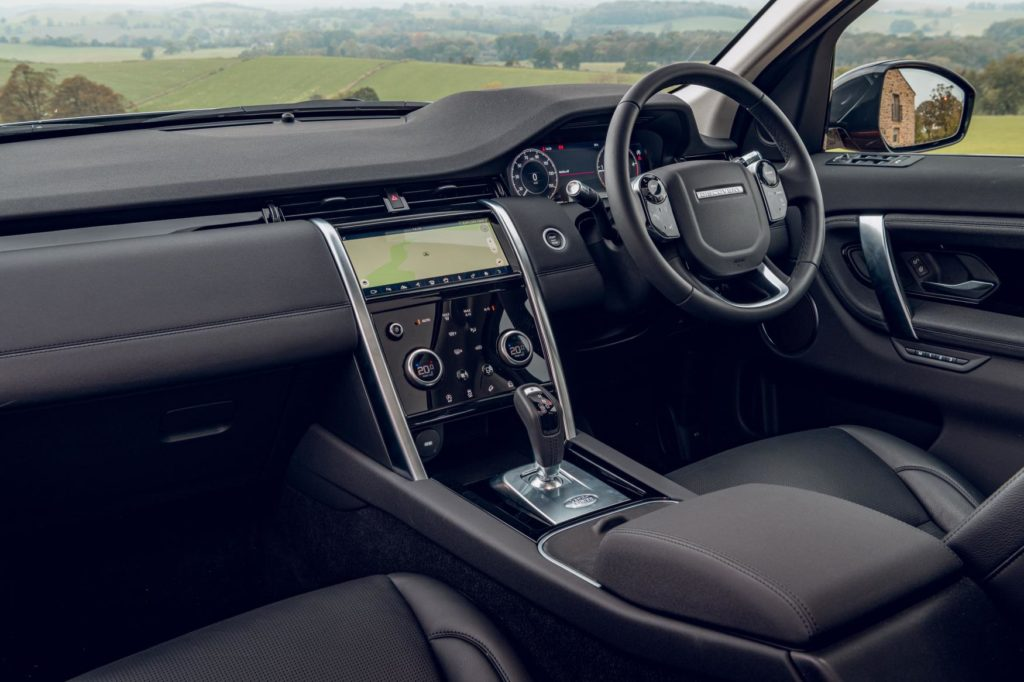 This is the inside of the 2020 Land Rover Discovery Sport