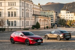 The Mazda3 is available as a hatchback or saloon