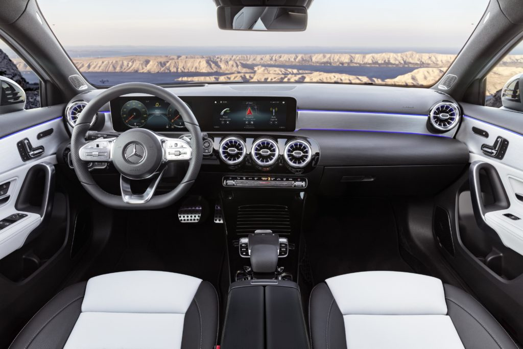 The interior of the 2018 Mercedes-Benz A-Class