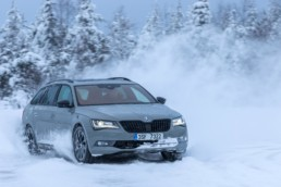 Skoda Octavia in the snow
