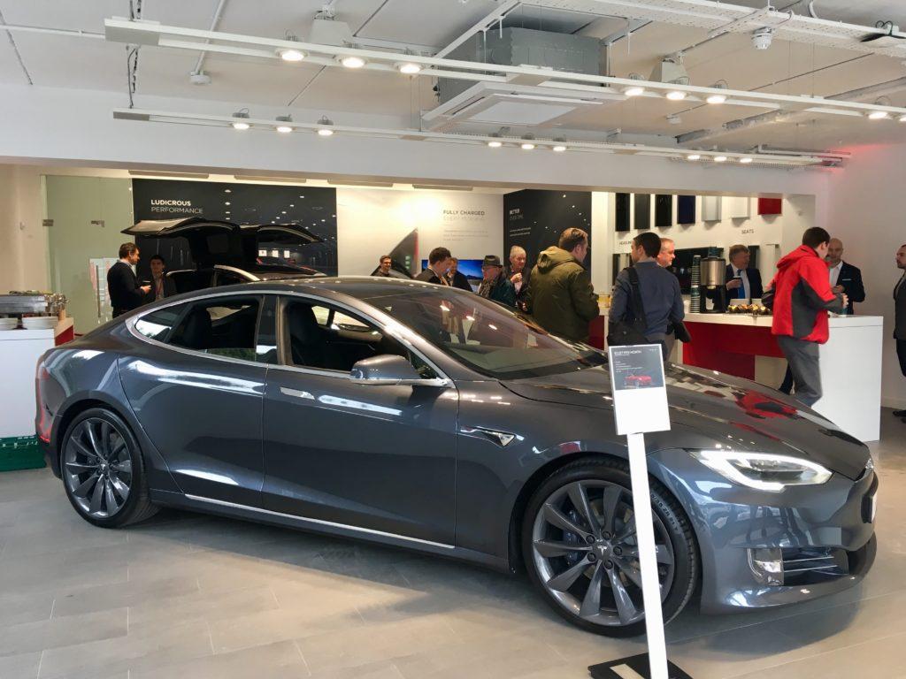 Tesla store in Dublin Ireland
