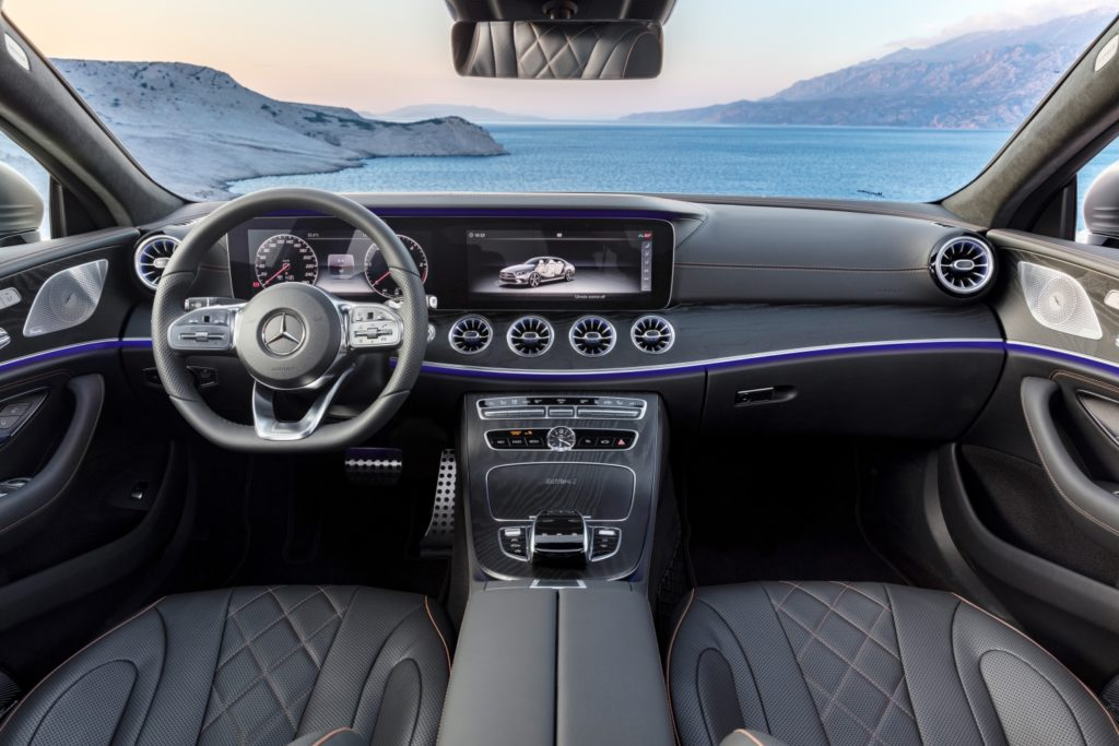 The interior of the the Mercedes-Benz CLS Coupé