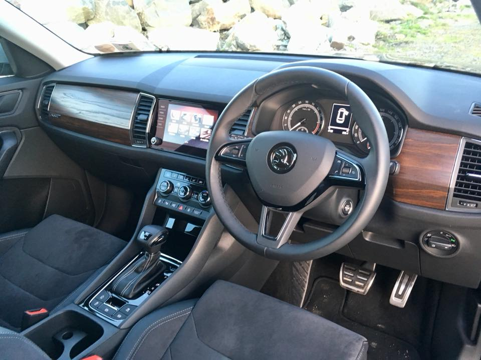 The interior of the Skoda Kodiaq Scout