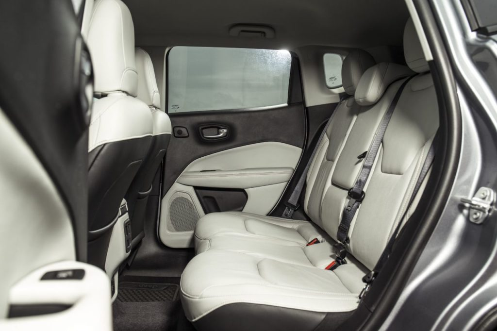 Rear legroom in the Jeep Compass