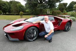 Ford Ireland Chairman and Managing Director, Ciarán McMahon, is pictured with the first model of the latest all new Ford GT to arrive in Ireland.