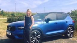 Caroline and the new Volvo XC40