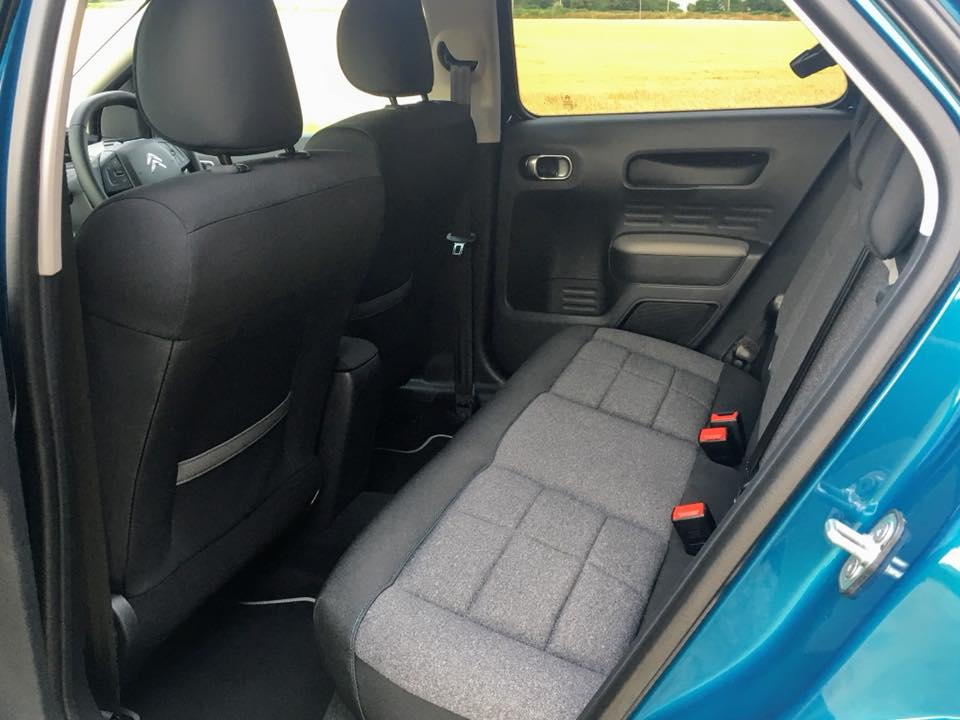 Rear seating space in the 2018 Citroen C4 Cactus