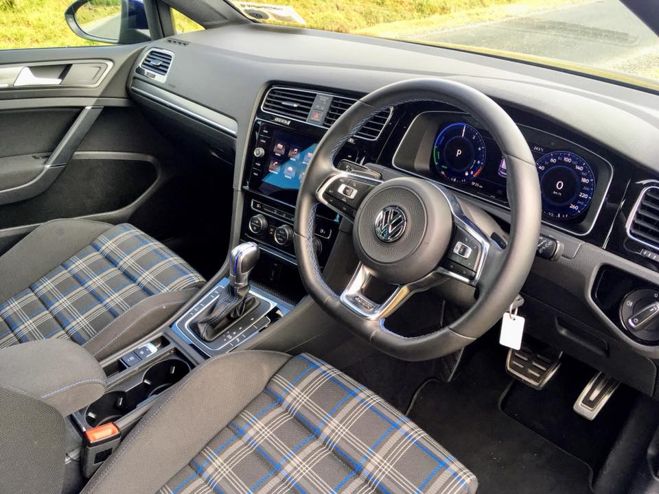 The interior of the Volkswagen Golf GTE