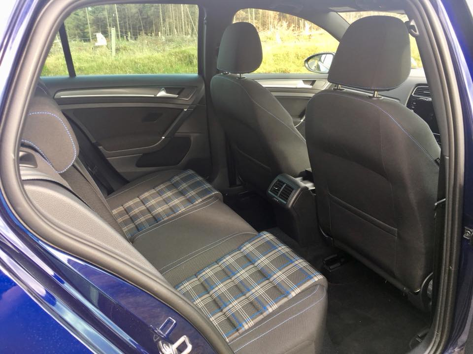 Rear seating space in the Volkswagen Golf GTE