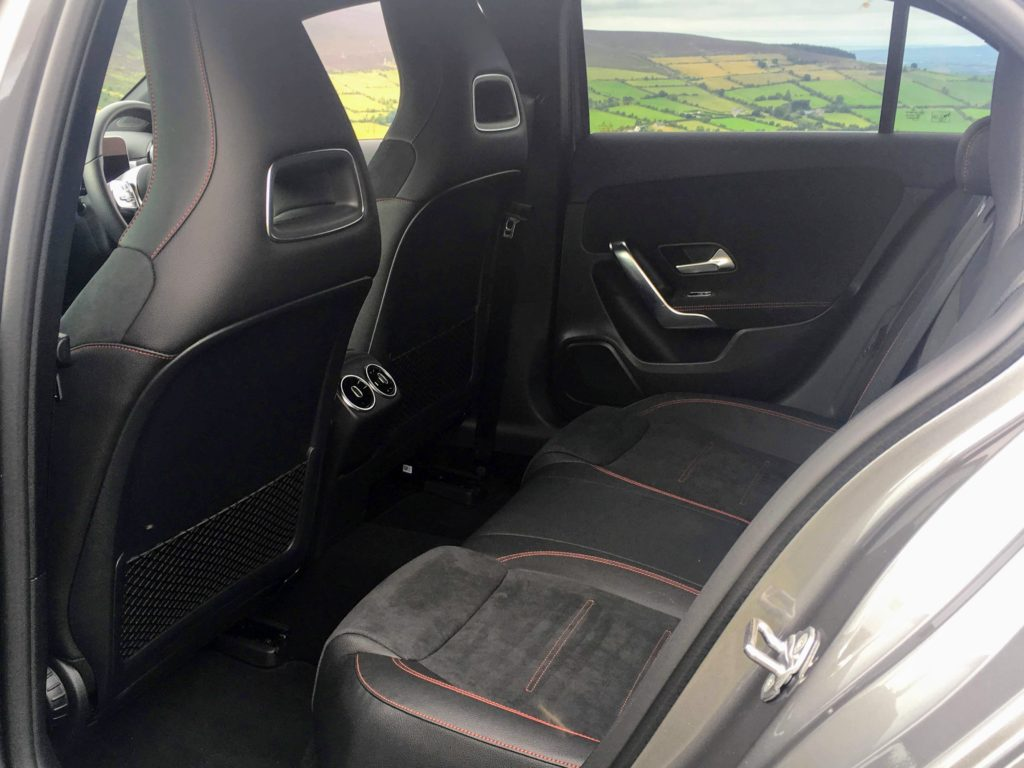 Rear legroom in the new Mercedes-Benz A-Class