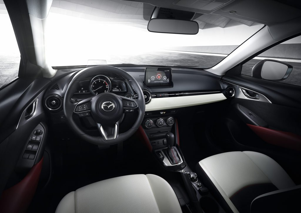 The interior of the 2018 Mazda CX-3