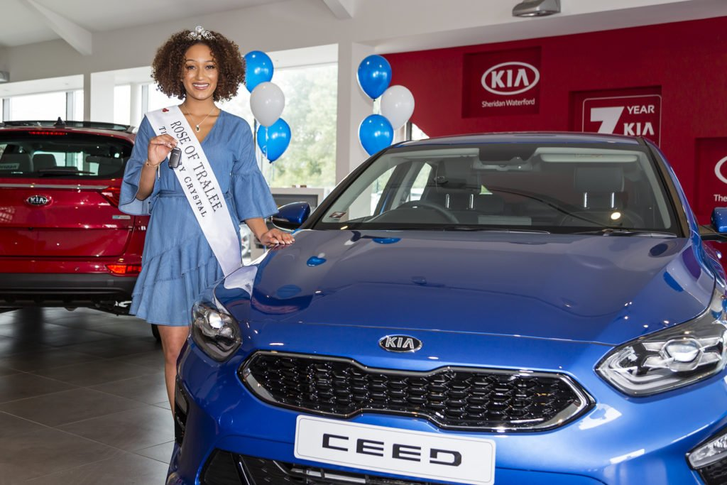 Rose of Tralee Kirsten Mate Maher and her new Kia Ceed