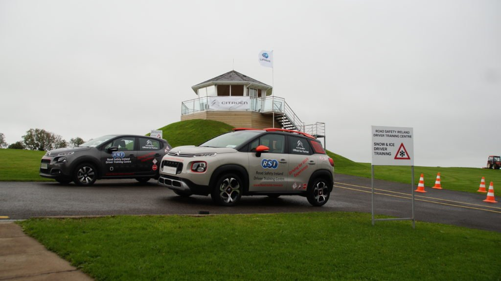 The Citroen C3 and Citroen C3 Aircross at a new purpose built Road Safety Experience Centre in Co. Monaghan.