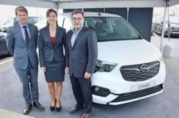 Paul Linders, Managing Director, Gillian Whittall, Opel Ireland General Manager and Joe Linders, Linders Group Owner