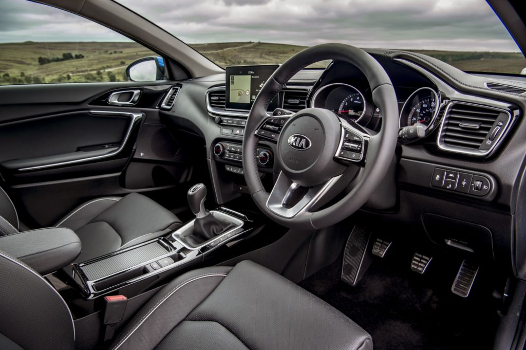 The interior of the 2018 Kia Ceed