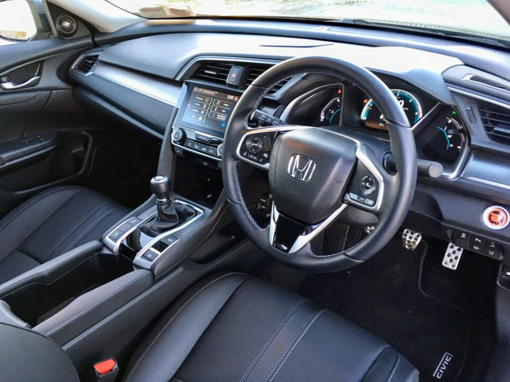 The interior of the Honda Civic Sedan