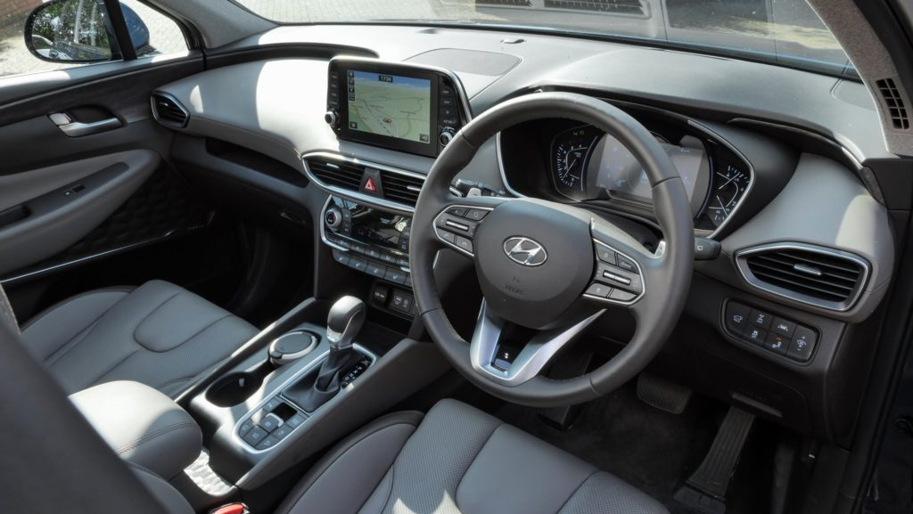 The interior of the new Hyundai Santa Fe