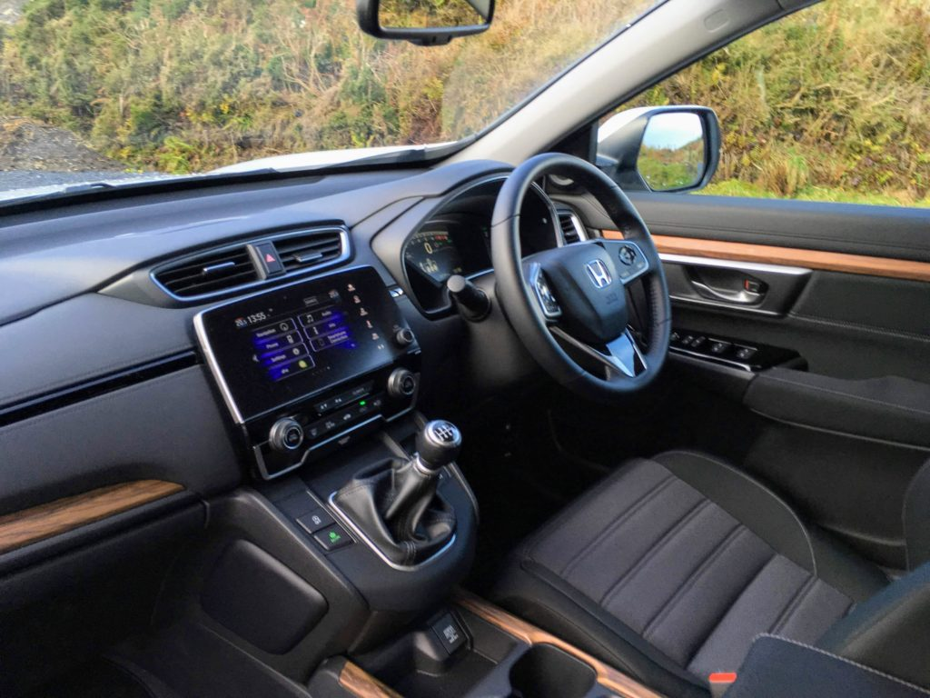 The interior of the 2018 Honda CR-V