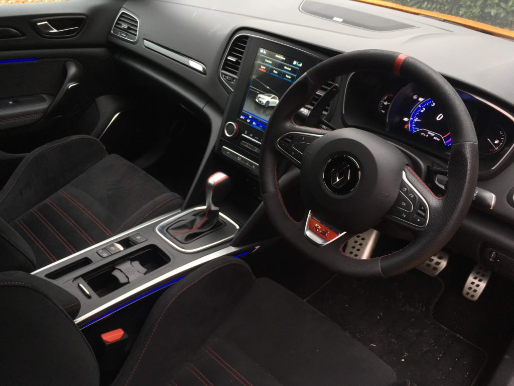 The interior of the new Renault Mégane R.S.