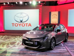 The new Toyota Corolla Hatchback in Dublin this week