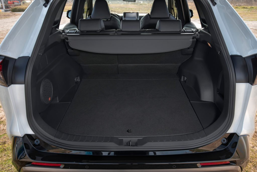 The new RAV4 has more interior space than the outgoing model and a larger boot
