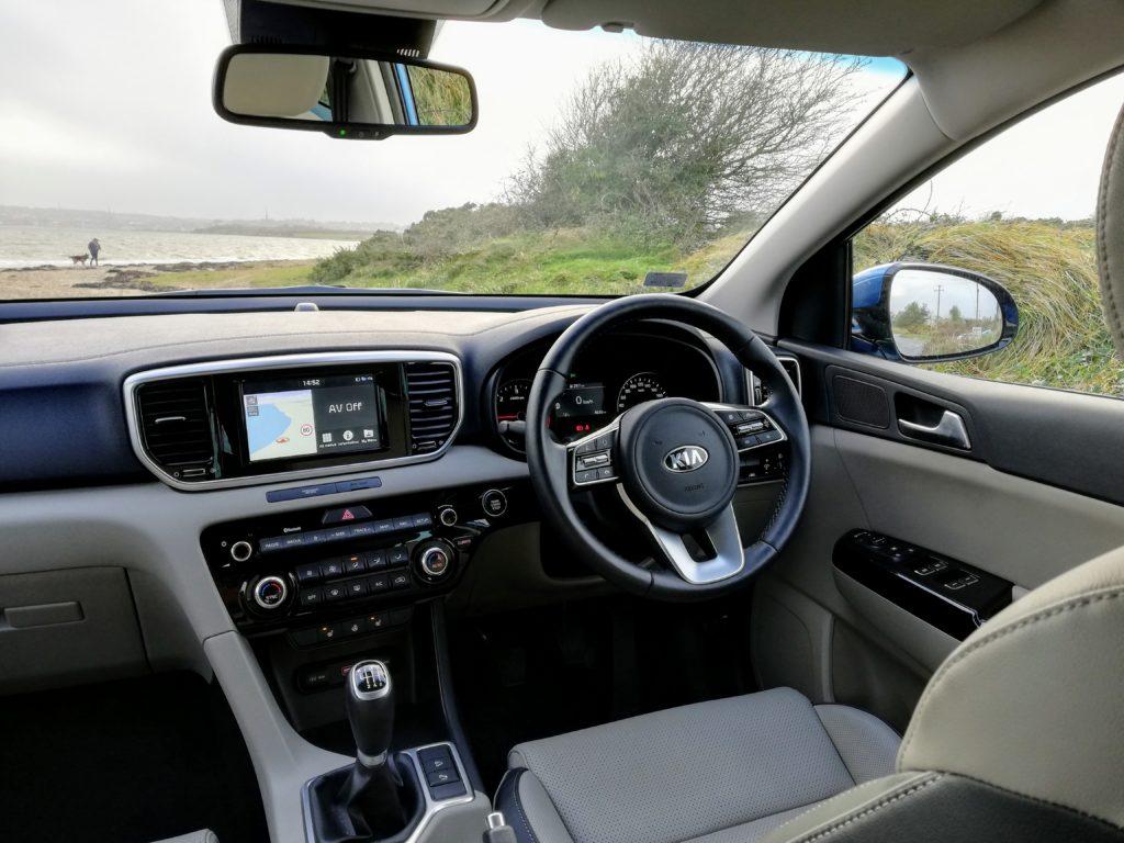 The interior of the 2019 Kia Sportage