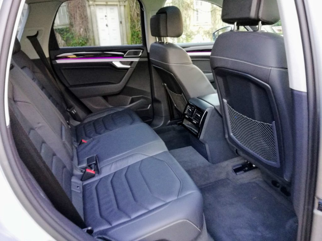 Rear seating in the new Volkswagen Touareg