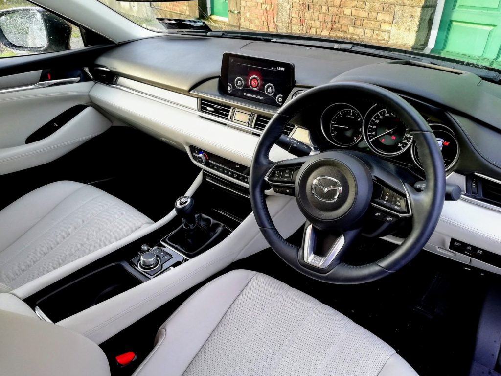 The interior of the 2019 Mazda6