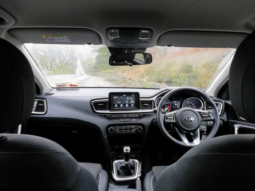 The interior of the Kia Ceed SW