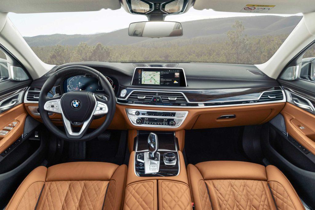 The interior of the BMW 7 Series