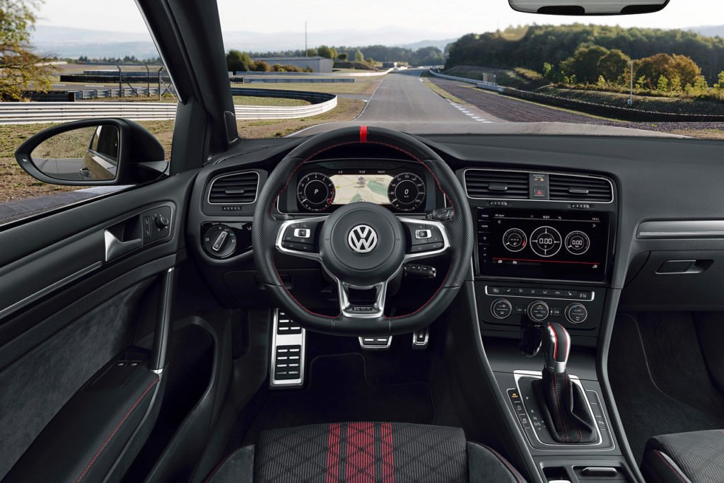 The interior of the new Volkswagen Golf GTI TCR