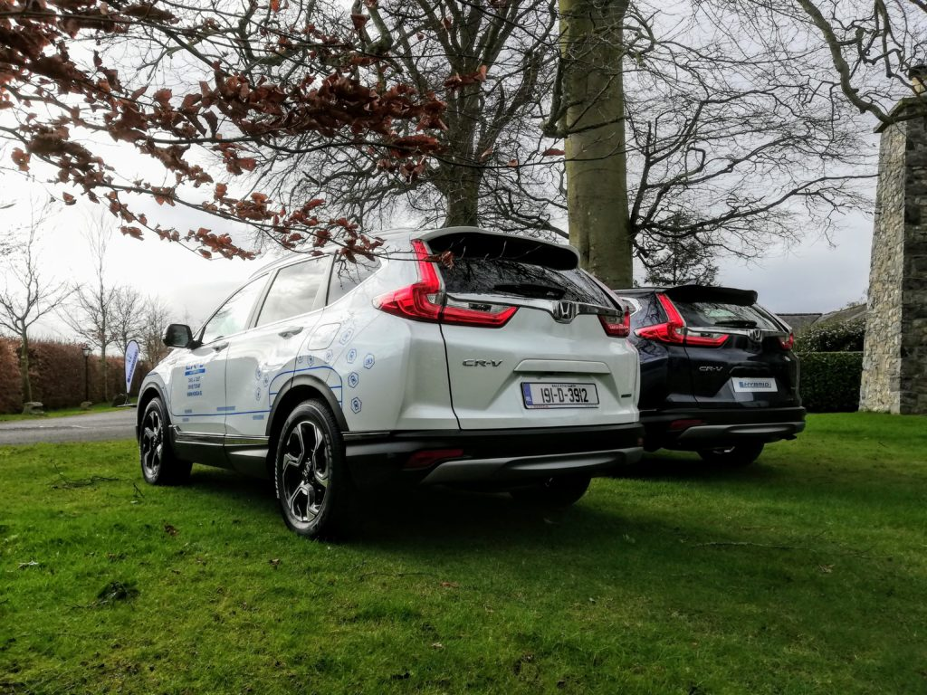 The new Honda CR-V Hybrid is a spacious five seat SUV