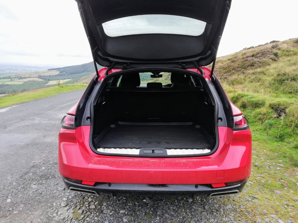 The Peugeot 508 SW offers a 530 litre boot with a low loading sill