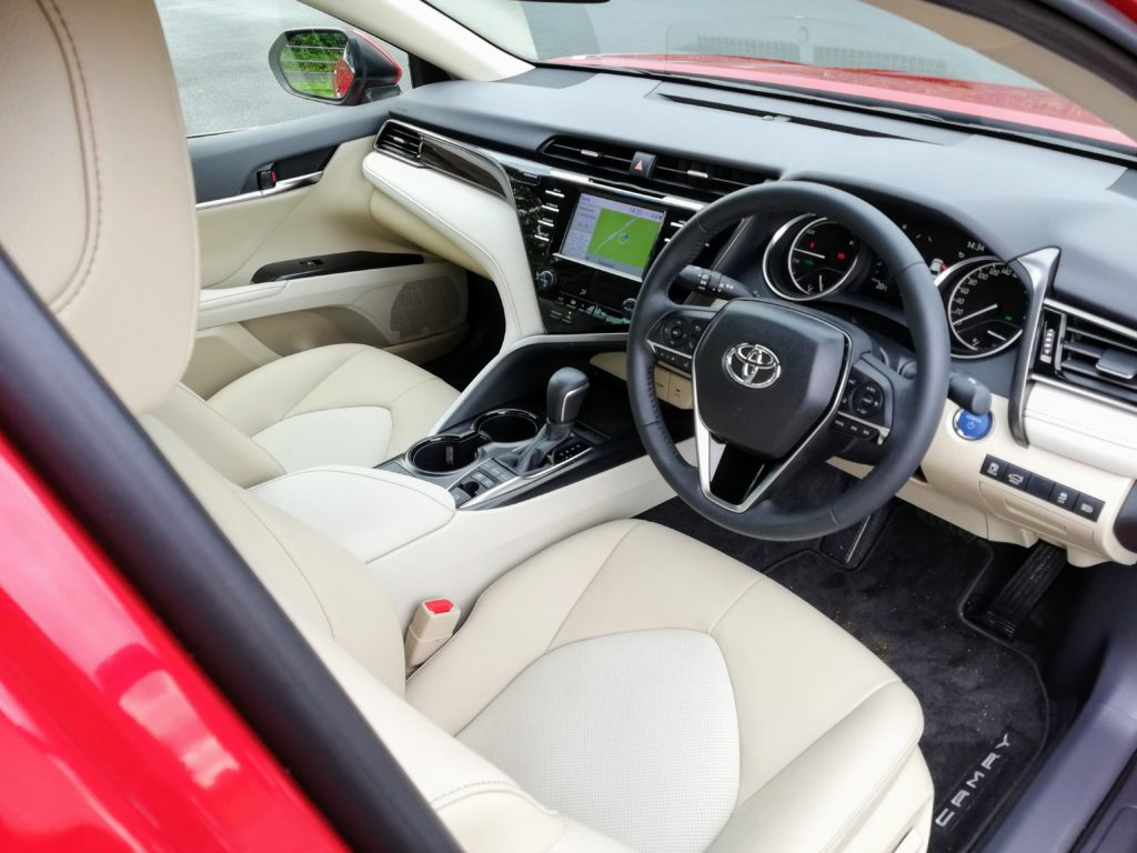 The interior of the 2019 Toyota Camry