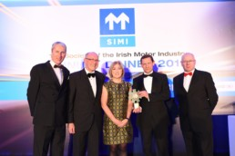 Outstanding Contribution to Road Safety presented to Gardai Press Office at the SIMI Motor Industry Awards 2019