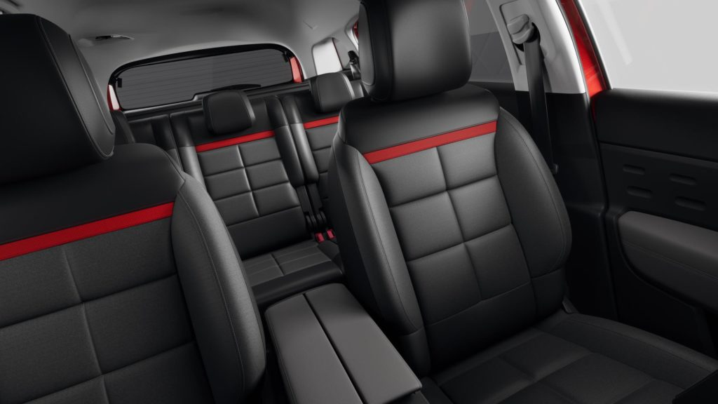The C5 Aircross has three individual seats in the rear