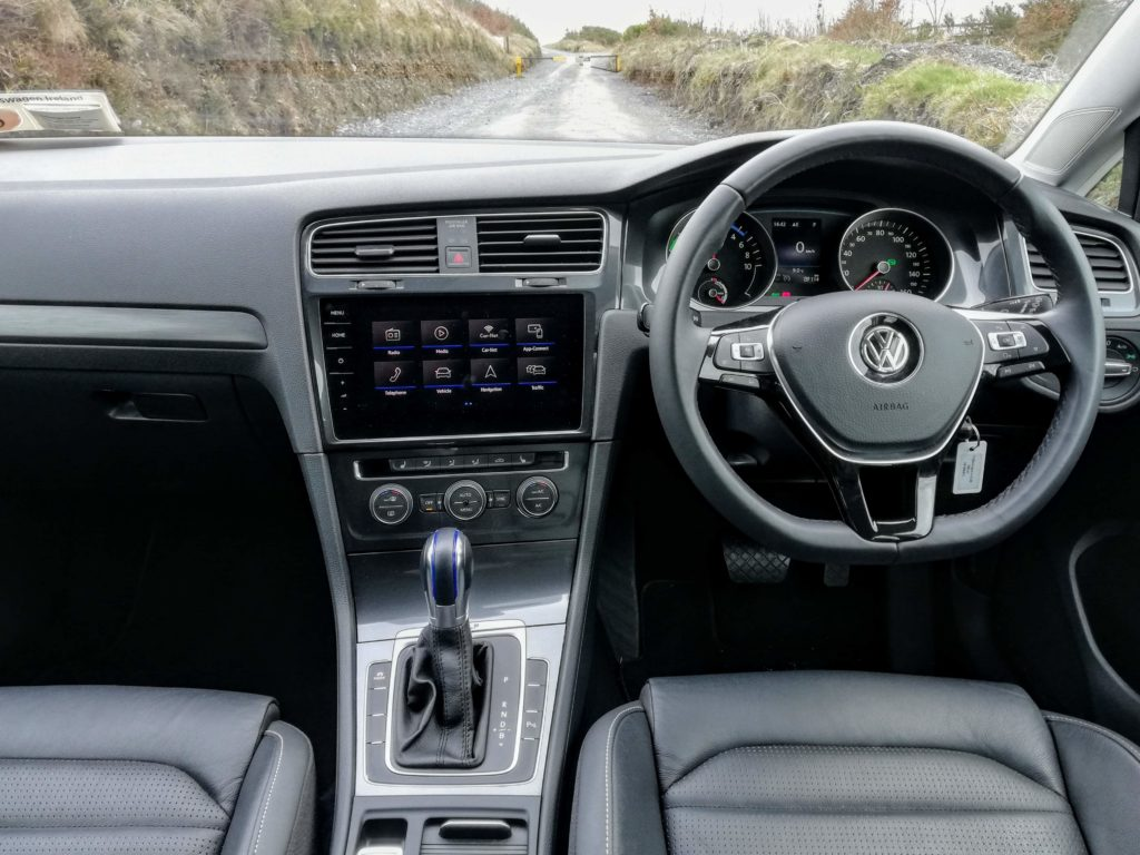 The interior of the Volkswagen e-Golf