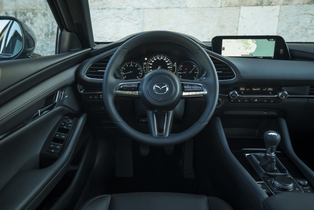 The interior of the new Mazda3