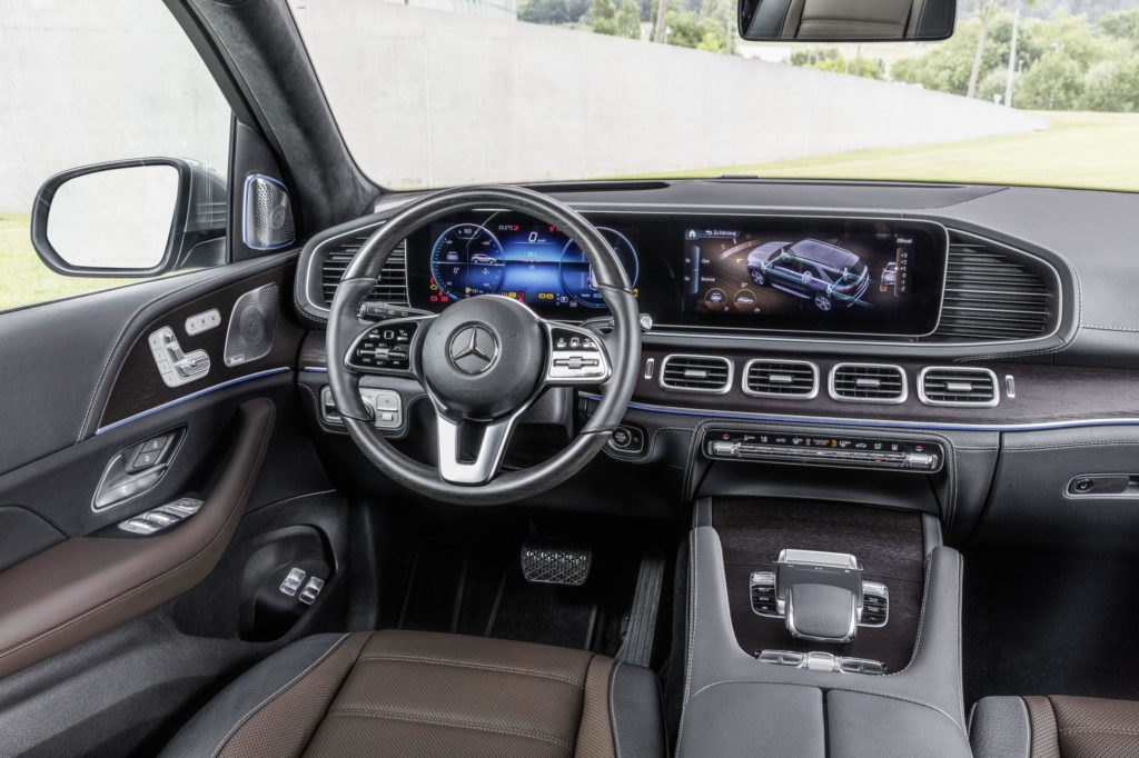 The interior of the new Mercedes-Benz GLE