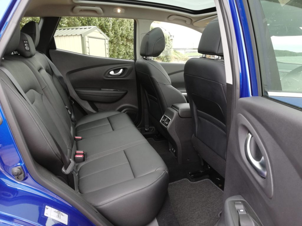 Rear legroom in the Renault Kadjar