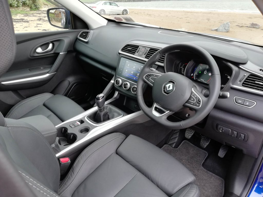 The interior of the 2019 Renault Kadjar