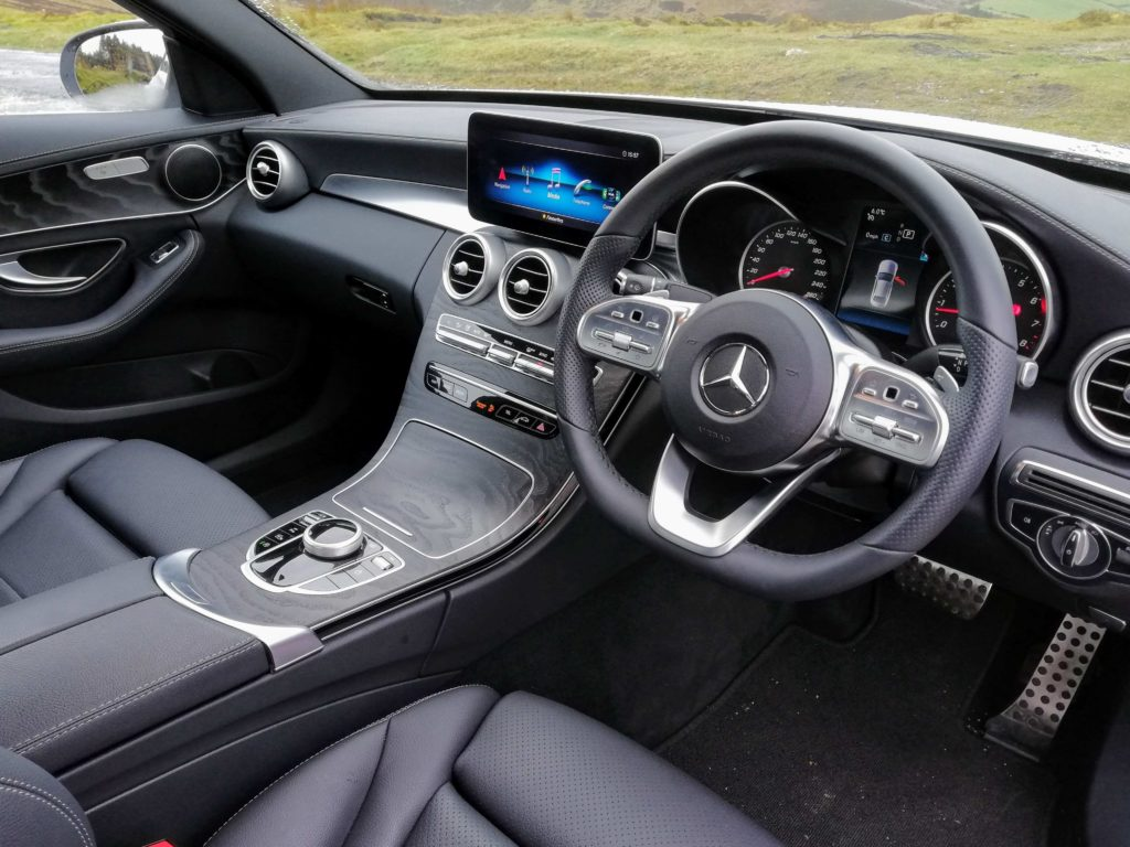 The interior of the Mercedes-Benz C-Class Saloon