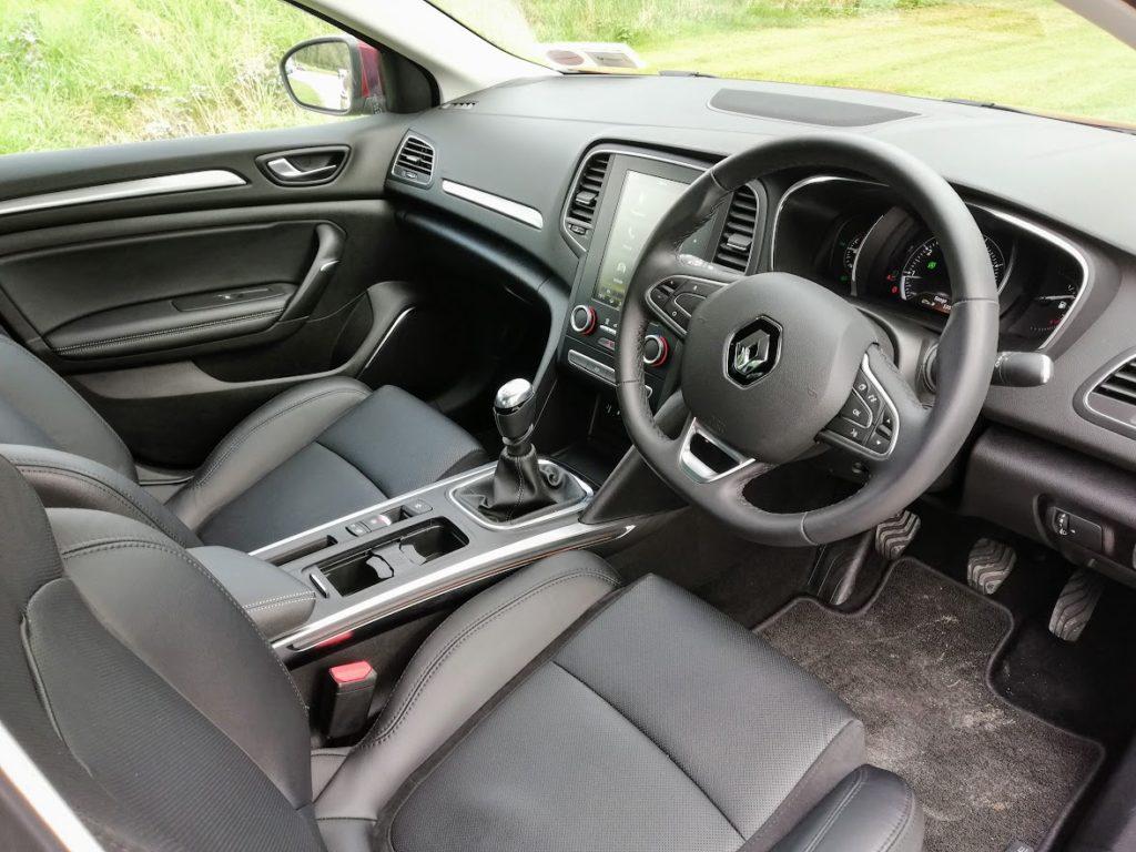The interior of the Renault Mégane Grand Coupé