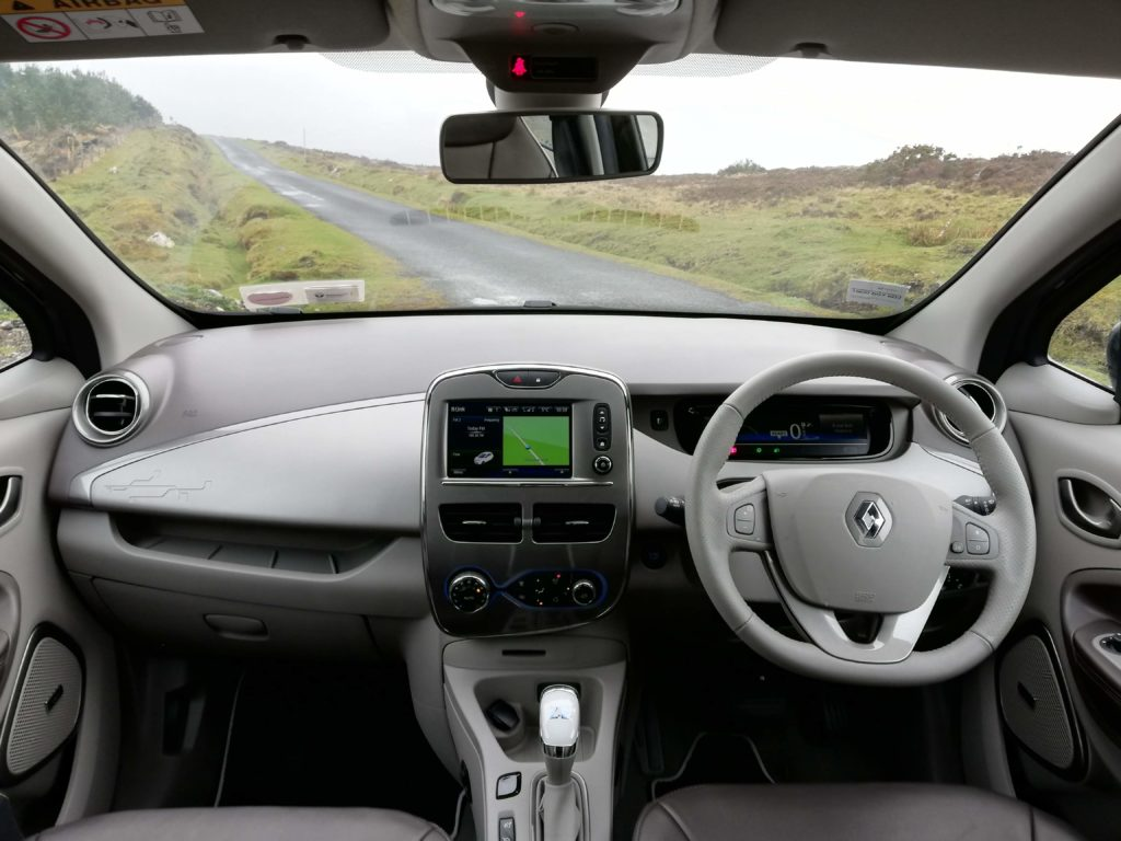 The interior of the Renault ZOE Z.E. 40