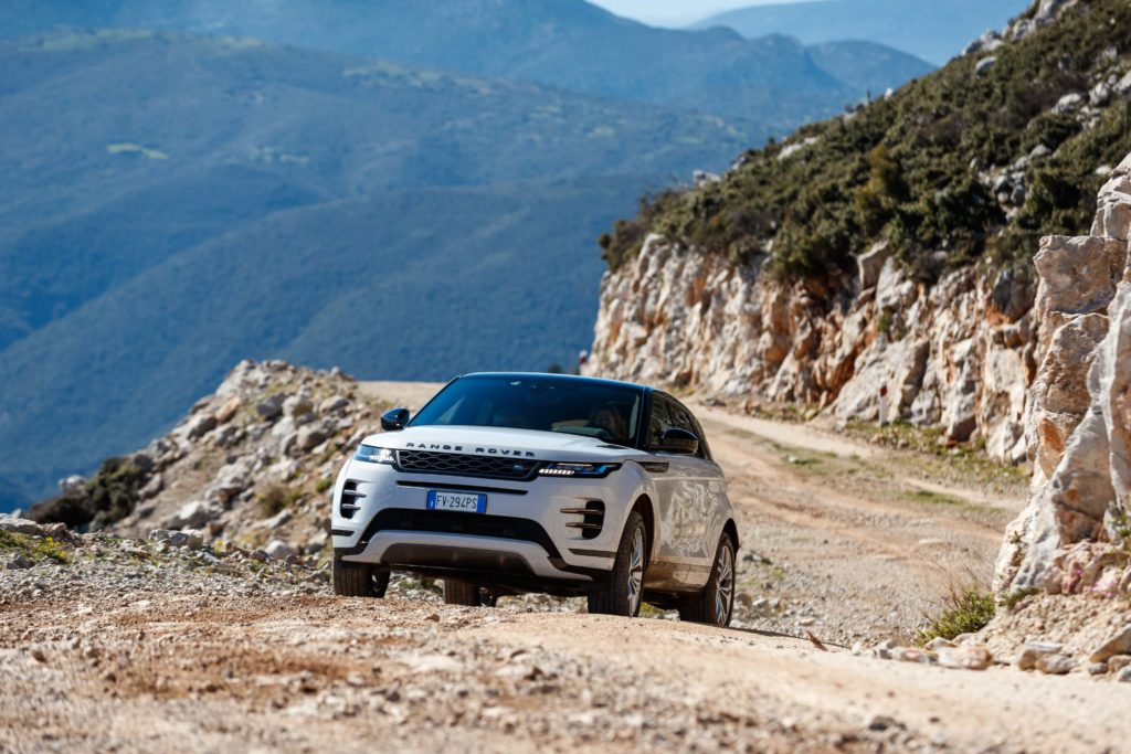 The new Range Rover Evoque in the Peloponnese region of Greece
